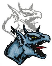 Dragon's shadow 4 machine embroidery design