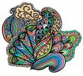 Multicolor decoration embroidery design