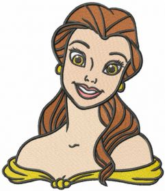 Pretty belle embroidery design