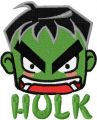 Incredible Hulk chibi 3 embroidery design