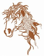Native American's horse 2