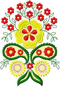 Flowers Decor Element 2 machine embroidery design