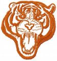 Tribal tiger free embroidery design 8