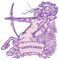 Zodiac sign Sagittarius 5 embroidery design