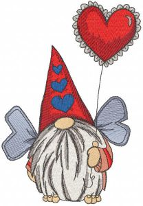 Dwarf with wings and balloon