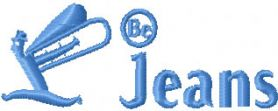 Be Jeans Logo machine embroidery design