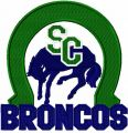 Swift Current Broncos logo embroidery design