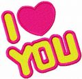 I love you free embroidery design 3