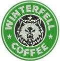 Winterfell coffee embroidery design