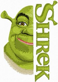 Shrek with Logo machine embroidery design