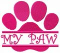 My paw free embroidery design