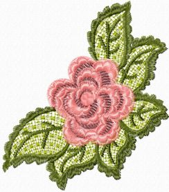 Rose Lace free machine embroidery design