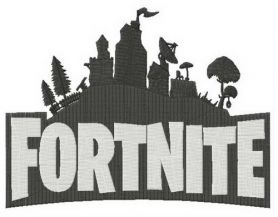 Fortnite city machine embroidery design