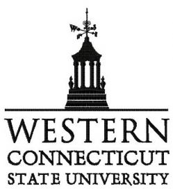 Western Connecticut State University logo machine embroidery design