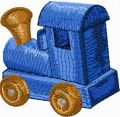 Wooden Train 1a	 embroidery design