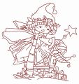 Christmas elf 7 embroidery design