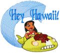 Lilo Hey Hawaii embroidery design