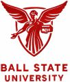 Ball State University logo embroidery design