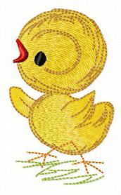 Tiny chicken machine embroidery design
