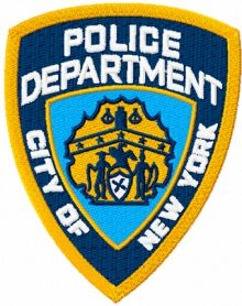 New York City police department machine embroidery design
