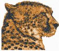 Cheetah free machine embroidery design