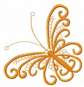 Lace butterfly free machine embroidery design