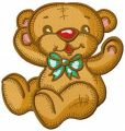 Teddy bear give me a hug embroidery design