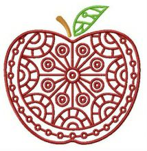 Apple with circle ornament