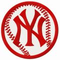 New York Yankees ball embroidery design