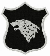 Stark shield from Game of Thrones