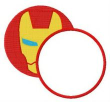 Iron Man round monogram