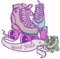 Sport girls embroidery design