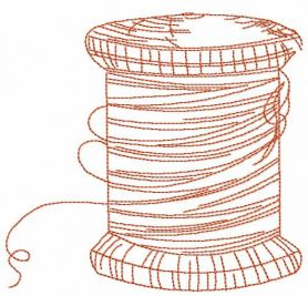 Thread spool free embroidery design