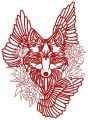 Tribal wolf 4 embroidery design