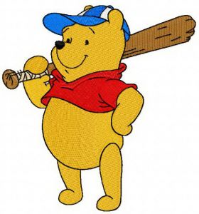 Pooh plays baseball