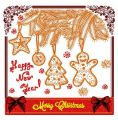 Merry Christmas postcard 5 embroidery design