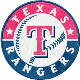 Texas Rangers logo machine embroidery design