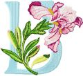 Iris Letter U embroidery design