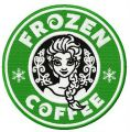 Frozen coffee  embroidery design