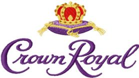 Crown Royal logo machine embroidery design