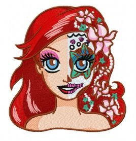 Fancy Ariel machine embroidery design