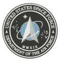 United States Space Force logo embroidery design