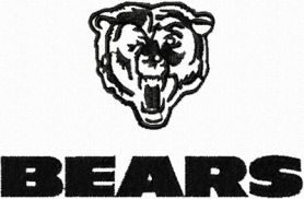 Bears logo machine embroidery design