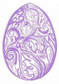 Easter egg 6 machine embroidery design