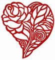 Heart of the rose embroidery design
