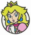 Princess Peach embroidery design
