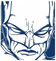 Batman sketch embroidery design