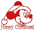 Christmas Mickey Mouse 7 embroidery design