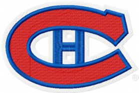 Montreal Canadiens hockey logo machine embroidery design