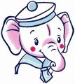 Elephant boy embroidery design